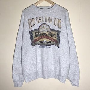 Vintage 1990s White Pass & Yukon Route Sweatshirt